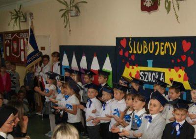 Uroczystość pasowania uczniów klasy I