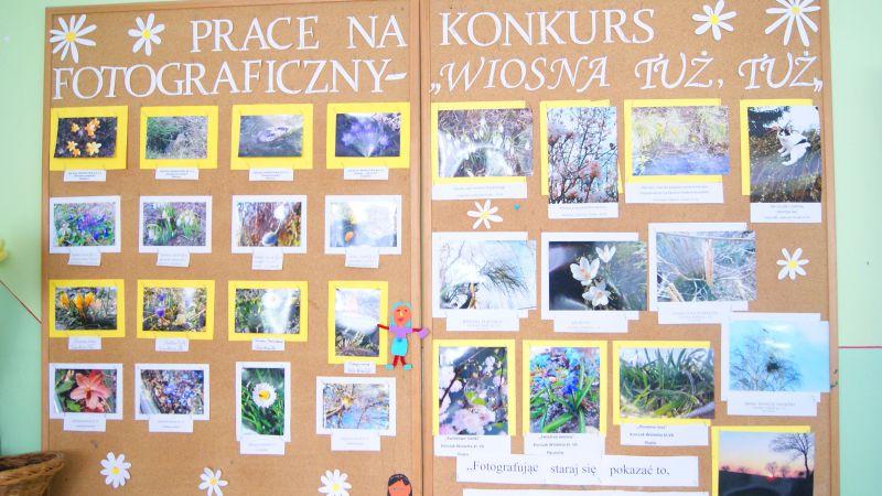 """Podsumowanie VIII szkolnego konkursu fotograficznego pt. """"Wiosna tuż, tuż"""""""