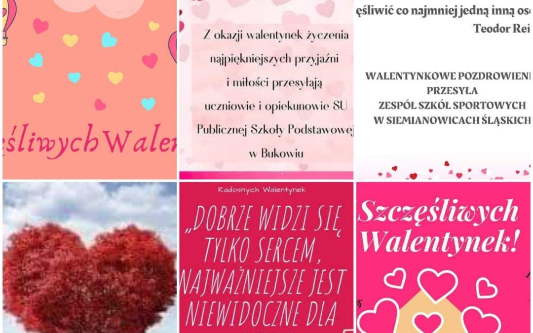 """Akcja Samorządów Uczniowskich """"Walentynki 2021"""""""